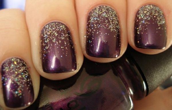 diseño de uñas invierno oscuro