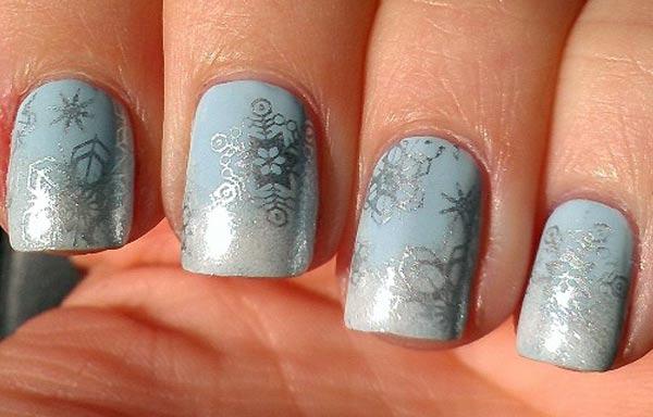 diseño de uñas invierno acrilicas postizas