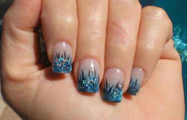 Diseños de uñas a mano alzada acrilicas