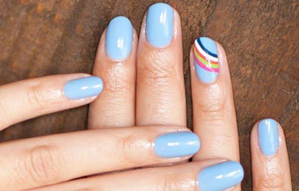 diseño de uñas a mano alzada facil