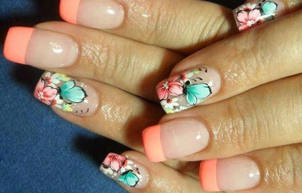 diseño de uñas a la moda francesa