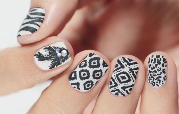 diseños de uñas pinceladas chinas