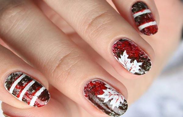 diseños de uñas pinceladas exoticas