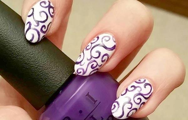 diseños de uñas pinceladas para novia