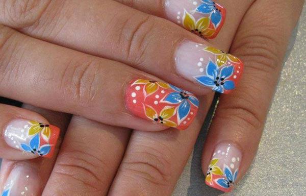 Diseños de uñas con rosas gel