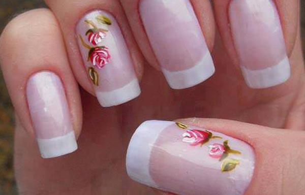Diseños De Uñas Con Rosas Uñasdecoradas Club