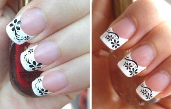 diseño de uñas con sello frances