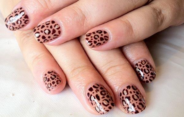 diseños de uñas shellac animal print