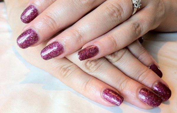 diseños de uñas shellac glitter