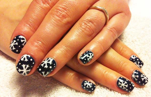 diseños de uñas shellac negro