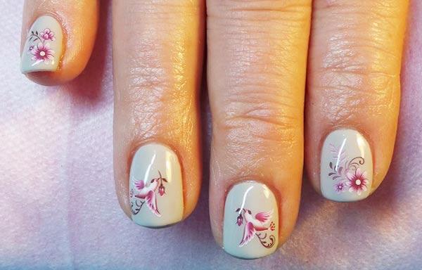 diseños de uñas shellac pintadas