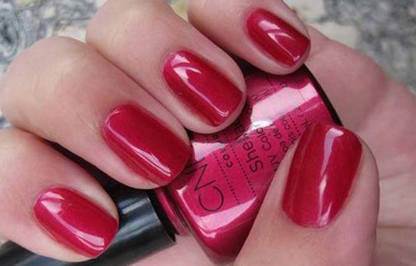 diseños de uñas shellac rojo