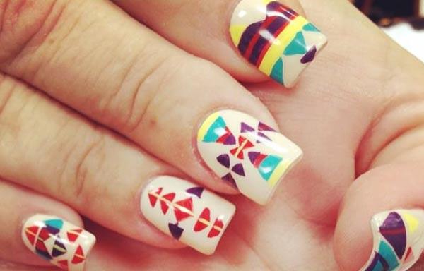 diseños de uñas tribales azteca estilo azteca