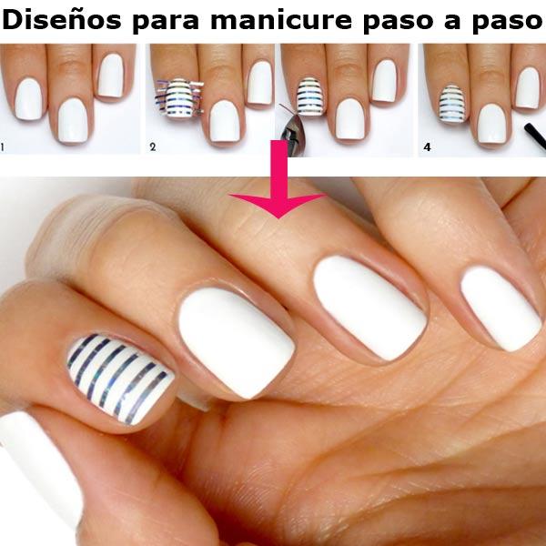 Diseños para manicure paso a paso