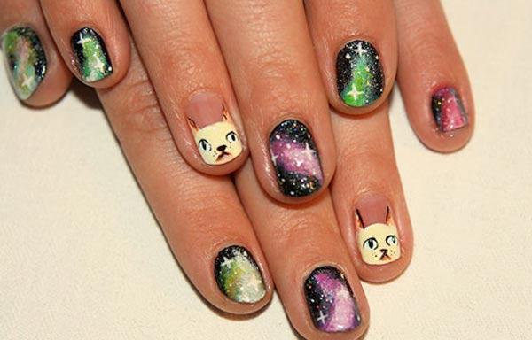 diseno de uñas de xv años con animales