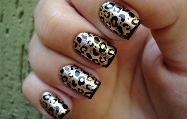 diseño de uñas animal print leopardo