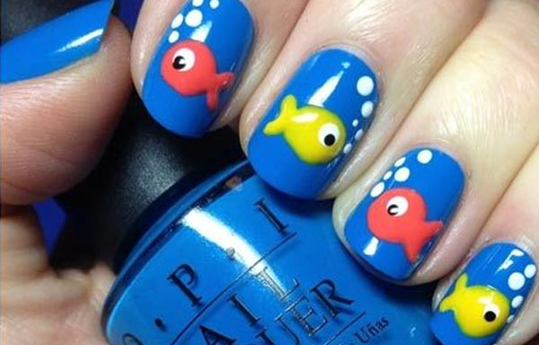 diseño uñas animales peces