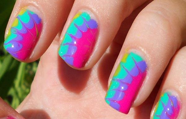 diseño de uñas colores fornidos