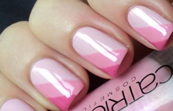 diseño de uñas colores indeterminados