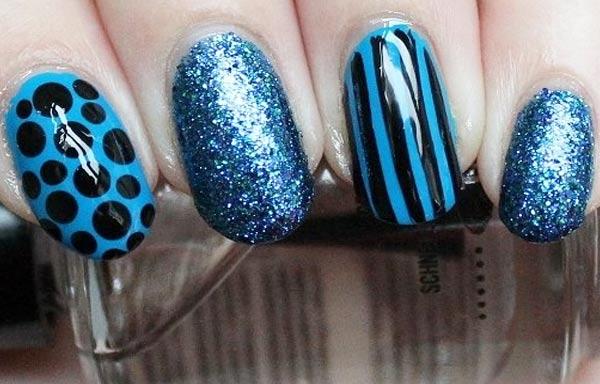 diseño de uñas colores sombrios