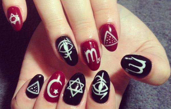 diseño de uñas góticas fáciles