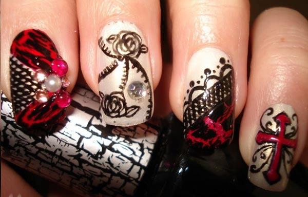 diseño de uñas góticas gel