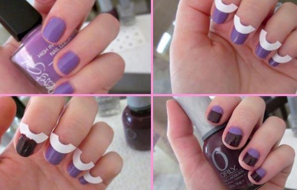 Diseño de uñas para hacer en casa curvas