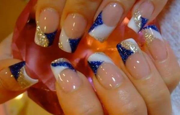 diseño para las uñas de las manos acrilicas