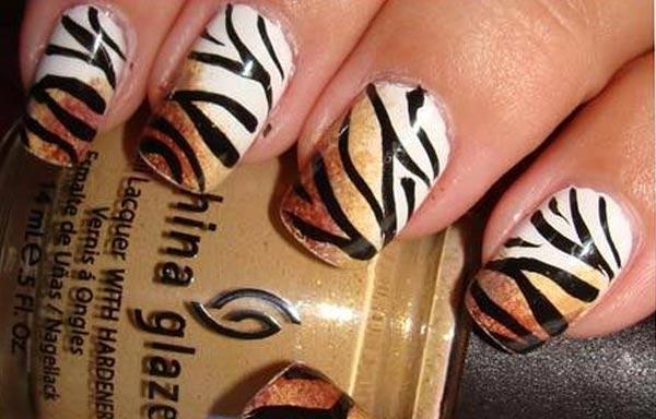 diseños para las uñas de las manos lineas