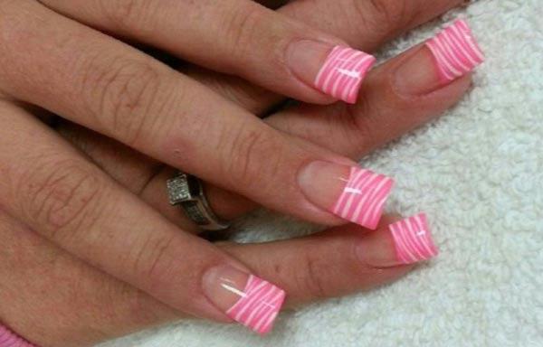 diseños para las uñas de las manos rosa