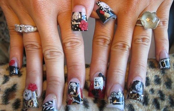 diseño de uñas marilyn actriz