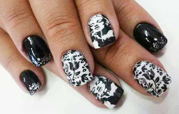 diseño de uñas marilyn icono