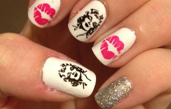 diseño de uñas marilyn labios