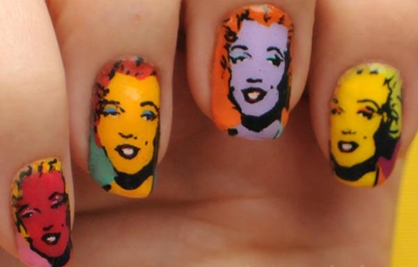 diseño de uñas marilyn monroe