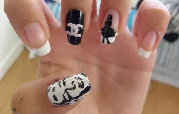 diseño de uñas marilyn vestido