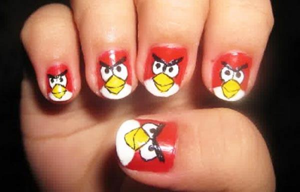 diseño de uñas para niñas cartoon