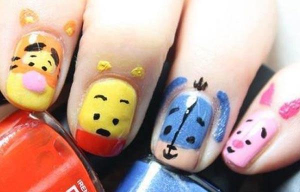 diseño de uñas para niñas disney
