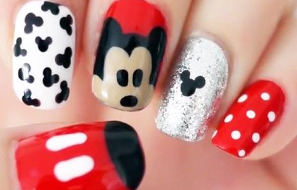 diseño de uñas para niñas mikey
