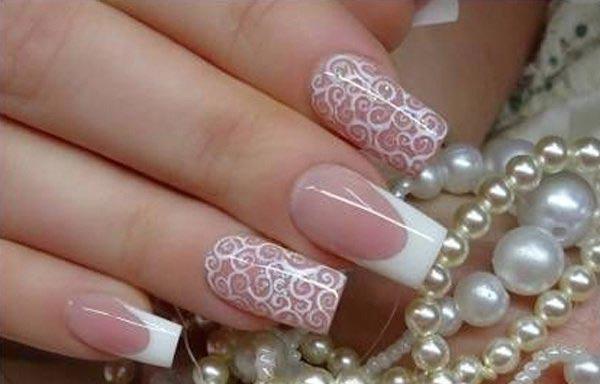 diseño de uñas para boda aerografo