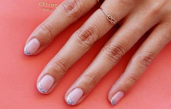 diseño de uñas para boda nature
