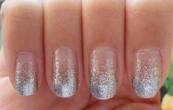 diseño de uñas para boda ombre