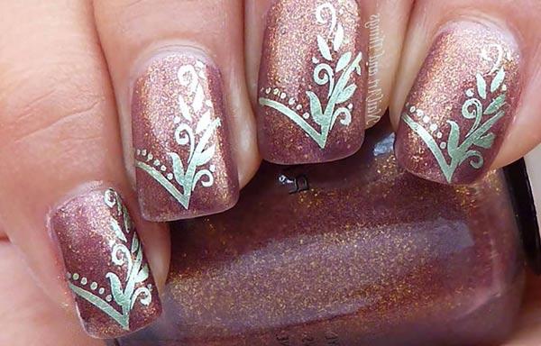 diseños de uñas para boda pinceladas