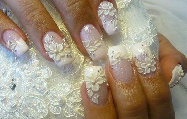 Diseños de uñas para novias 3d
