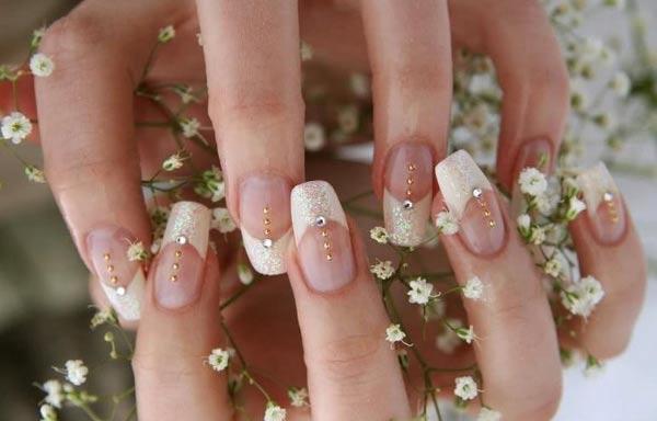 diseño de uñas para novias esculpidas