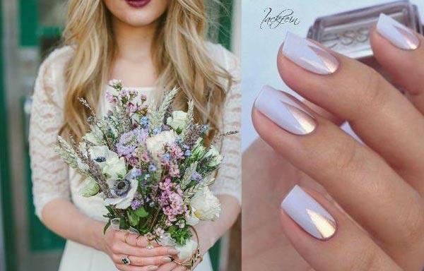 diseño de uñas para novias faciles