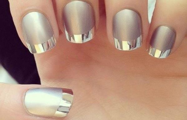 diseño de uñas para novias metalicas