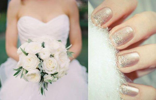 diseño de uñas para novias pastel