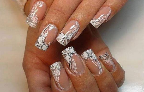 diseño de uñas para novias pintadas