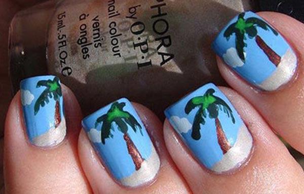 diseño de uñas para playa esmalte