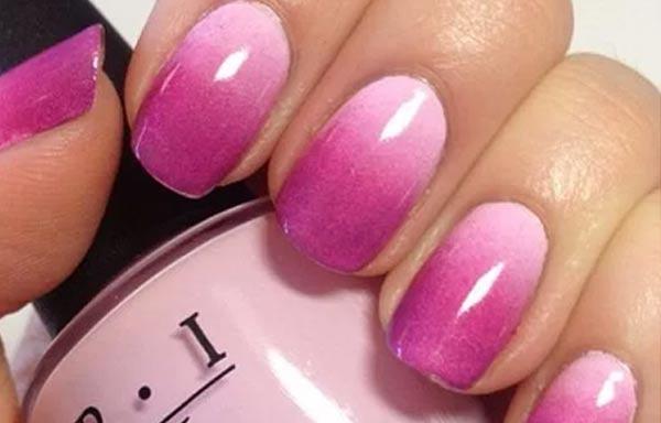 diseño uñas de señora con degradado